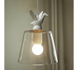 WinSoon Industrial Pendant Light Bar Loft Bird Resin Glass Shade like Swan Shade Fixture