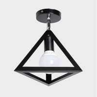 WinSoon Industrial Vintage Ceiling Light 1 Light Style Cube Metal Shade Art Painted Finished All Products