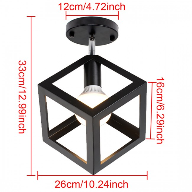 Winsoon industrial vintage ceiling light 1 light style cube metal winsoon industrial vintage ceiling light 1 light style cube metal shade art painted finished aloadofball Choice Image