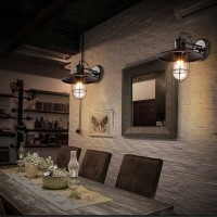 WinSoon Industrial Vintage Ceiling Light Style Metal with Glass Shade Art Painted Finish All Products