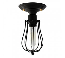 WinSoon Industrial Vintage Ceiling Light (with 1 bulb) Metal Cage Painted Finish Fixture