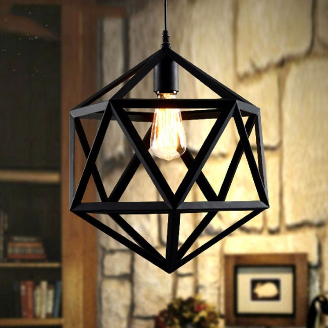 WinSoon Industrial Vintage Ironwork Edison Ceiling Pendant RH Loft Metal Cage All Products