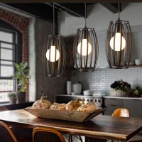 WinSoon Industrial Vintage Pandent Metal Ceiling Cage Shade Chandelier Lamp Fixtures All Products