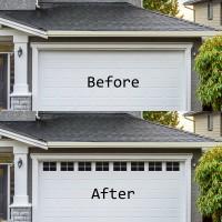 Winsoon Magnetic Panels for Car Garage Door Decoration Fake Faux Windows Black 2 Car Garage Kit 32 Small Panels