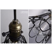 WinSoon Metal Pendant Light Shade Vintage Industrial Chandelier Retro Cage Lamp All Products