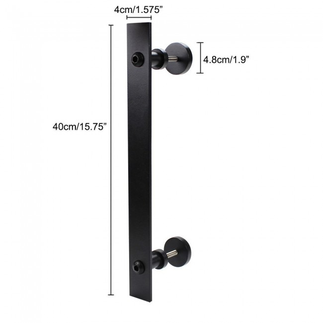 WinSoon Metal Sliding Barn Door Hardware Accessories Indoor Door Handle  With Two Screws All Products