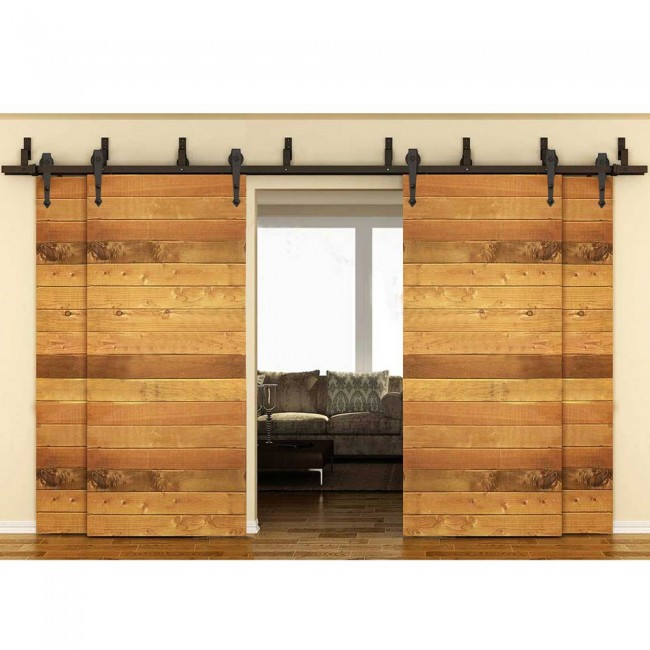 Winsoon Modern 4 Doors Bypass Sliding Barn Door Hardware