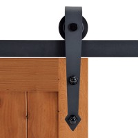 WinSoon Modern 4-Doors Bypass Sliding Barn Door Hardware Track Kit 5-16FT (Arrow)