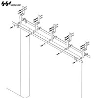WinSoon Modern 4-Doors Bypass Sliding Barn Door Hardware Track Kit 5-16FT (Bent)