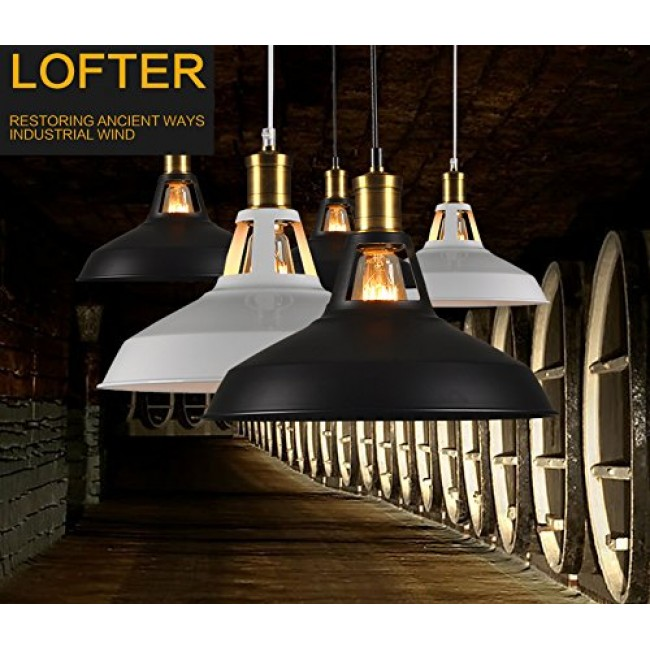 winsoon modern industrial loft bar ceiling light metal pendant lamp