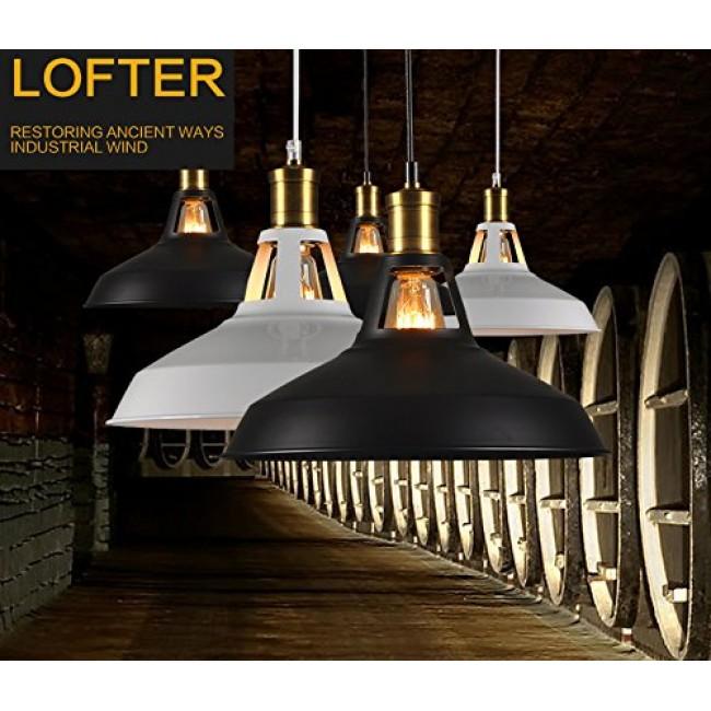 industrial loft lighting. Winsoon Modern Industrial Loft Bar Ceiling Light Metal Pendant Lamp Shade Hanging (Black) Lighting
