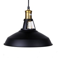 Winsoon Modern Industrial Loft Bar Ceiling Light Metal Pendant Lamp Shade Hanging (Black)  All Products