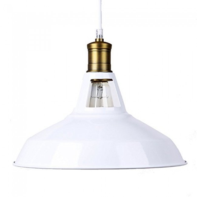 Winsoon Modern Loft Bar Ceiling Light Metal Pendant Lamp Shade Hanging White All