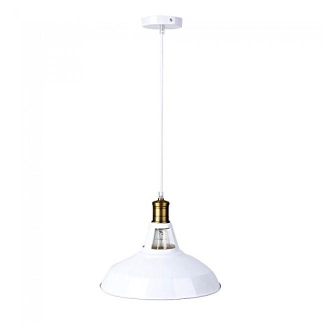Winsoon modern industrial loft bar ceiling light metal for Modern white pendant lighting