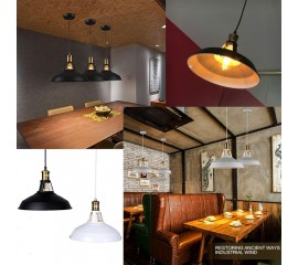 WinSoon Modern Industrial Loft Bar Metal Pendant Lamp Shade Hanging Ceiling Light