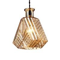 WinSoon modern Pendant Light Socket Glass Pendant Flower Vase Shape Design(A)