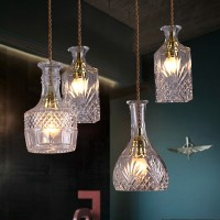 WinSoon modern Pendant Light Socket Glass Pendant Flower Vase Shape Design(B) All Products