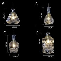 WinSoon modern Pendant Light Socket Glass Pendant Flower Vase Shape Design(D) All Products