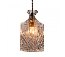 WinSoon modern Pendant Light Socket Glass Pendant Flower Vase Shape Design(D)