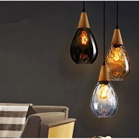 WinSoon Modern Style Glass Shade Lamp Bar Loft Fixtures Without The Bulb