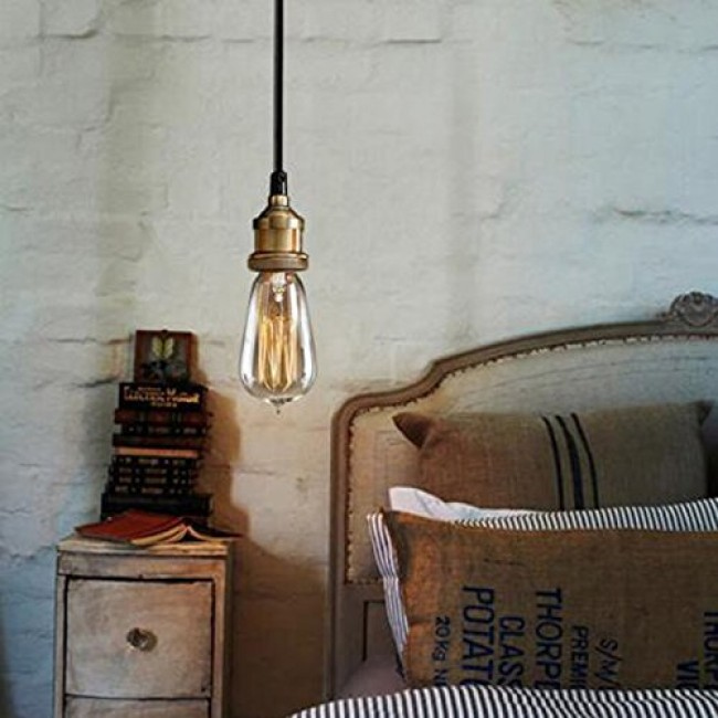 WinSoon Modern Vintage Industrial Base Socket Hanging
