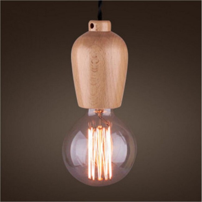 Winsoon modern vintage industrial hanging ceiling lamp for Ceiling lamp wood