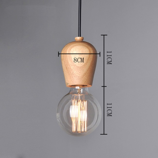 Winsoon modern vintage industrial hanging ceiling lamp wood shade winsoon modern vintage industrial hanging ceiling lamp wood shade pendant light all products aloadofball Gallery