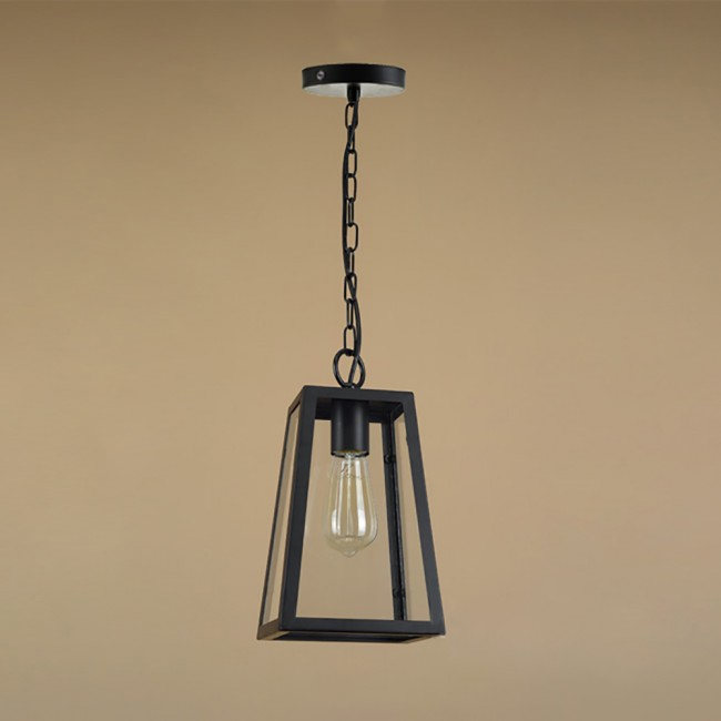 WinSoon Modern Vintage Industrial Hanging Glass Box Cage Metal Art Pendant Light All Products