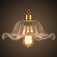 WinSoon Modern Vintage Industrial Hanging Glass Ceiling Lamp Flower Pendant Light All Products
