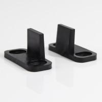 WinSoon New Design Adjustable Floor Guide for barn door hardware Black With Screws