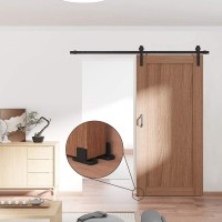 WinSoon New Design Adjustable Floor Guide for barn door hardware Black With Screws  All Products