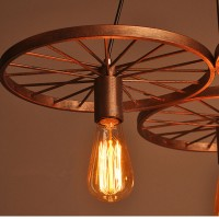WinSoon New Wheel Metal Shade Ceiling Vintage Retro Chandelier Fitting Pendant Art Light All Products