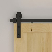 Winsoon  One pair Sliding Barn Door Hardware Black Anti-jump Disk Block Prevent Door Coming Off