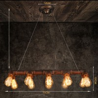 WinSoon Retro Industrial Steampunk Lamp Iron Pipe Island Pendant Light(Bronze) All Products
