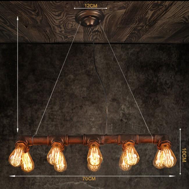 winsoon retro industrial steampunk lamp iron pipe island pendant light bronze. Black Bedroom Furniture Sets. Home Design Ideas