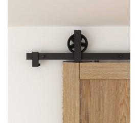 WinSoon Rustic 4-18FT Sliding Barn Door Hardware Track Kit  Single Door Double Door Interior Exterior American Country Style Wheel Hanger
