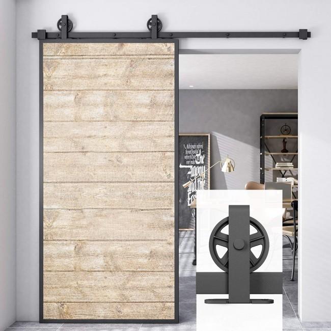 Winsoon Rustic 4 18ft Sliding Barn Door Hardware Track Kit