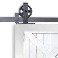 WinSoon Rustic 4-18FT Sliding Barn Door Hardware Track Kit  Single Door Double Door Interior Exterior American Country Style Wheel Hanger