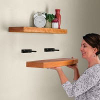 "Winsoon Set of 4 Floating Hidden Bracket Shelf Bookcase Shelf Shelves 6 "" Deep Rods"