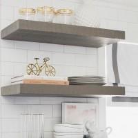 "Winsoon Set of 4 Floating Hidden Bracket Shelf Bookcase Shelf Shelves 6 "" Deep Rods"