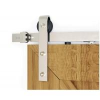 WinSoon Silver Modern Roller Hanger for Sliding Barn Wood Door Hardware Track System Stainless Steel 304