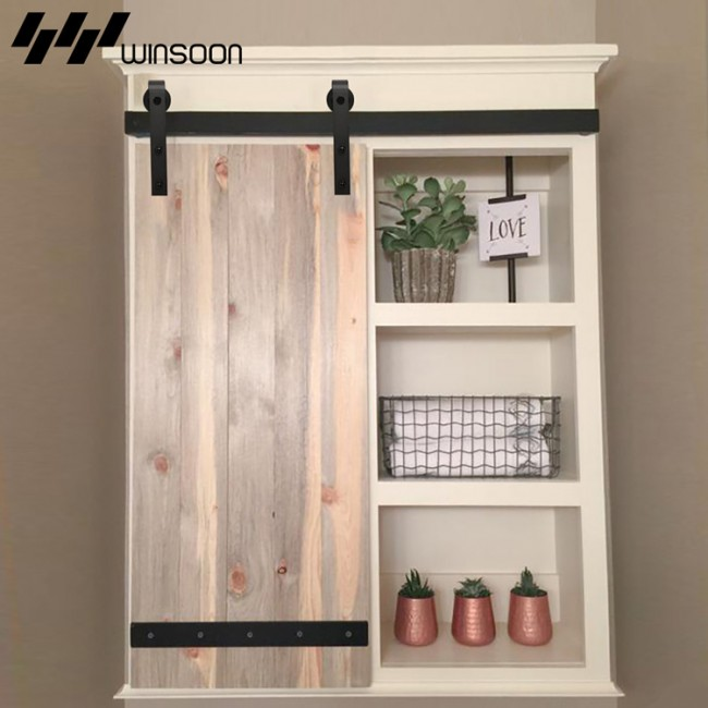 Winsoon Sliding Barn Door Hardware Wood Door Closet Cabinet Track