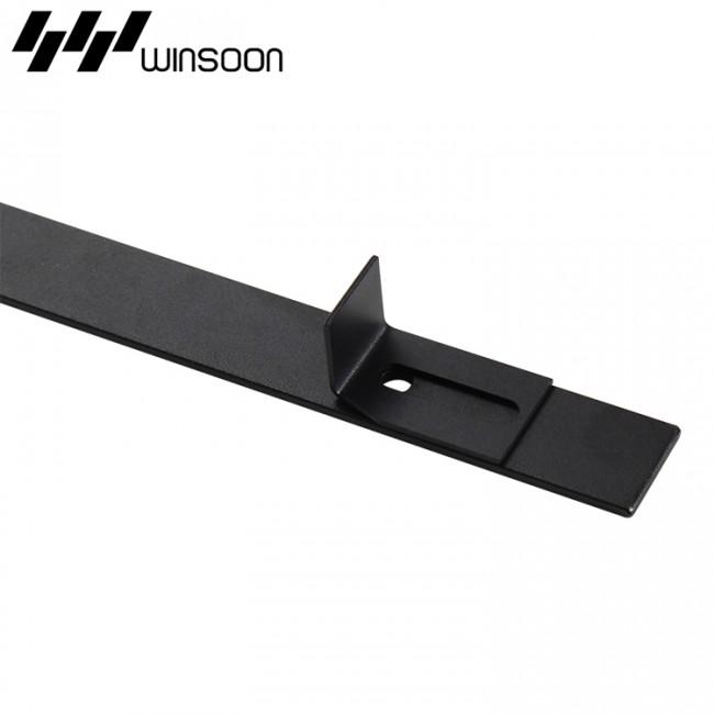 winsoon sliding barn door hardware wood door closet cabinet track kit mini bent. Black Bedroom Furniture Sets. Home Design Ideas