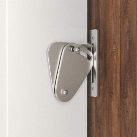 Winsoon 1PC  Small Stainless Steel 304 Latch Lock Privacy Lock For Sliding Barn Door Gate Silver