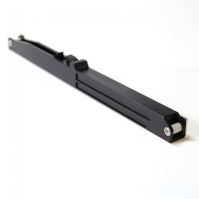 WinSoon Soft Close Mechanism for Sliding Barn Door Hardware Track Kit Remission All Products Black