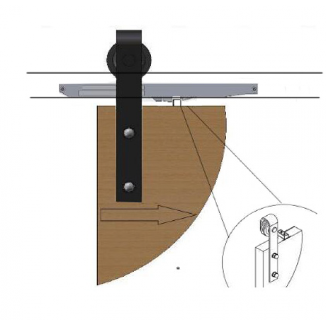 Winsoon soft close mechanism for sliding barn door for Sliding door mechanism
