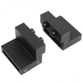 2 PCS Door Stopper Limit device for Sliding Barn Door Flat Track