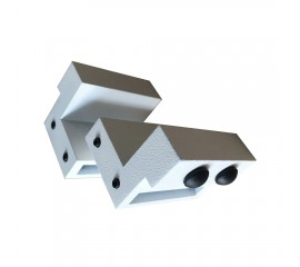 WinSoon Steel Stopper Limit device for Sliding Barn Door Hardware (White)