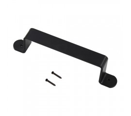 WinSoon Superior Decorative Black Metal Steel Door Handle With Screws Fit Barn Wood Doors