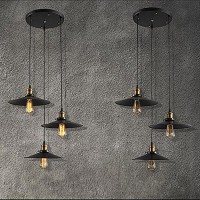 WinSoon Vintage 3 Edison Lights Hanging Island Pendant Plating Finish Light All Products